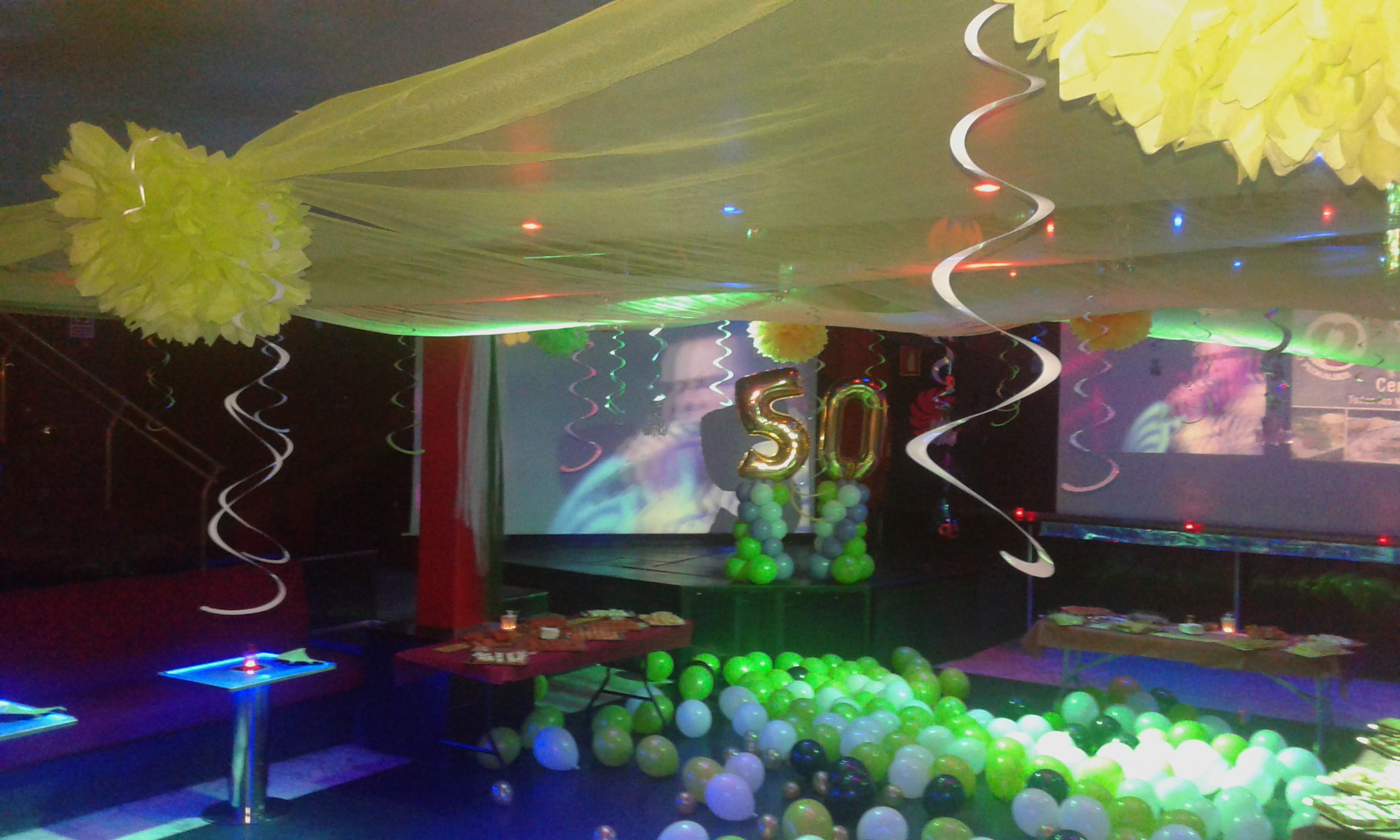 Balloon Decorations for parties disco