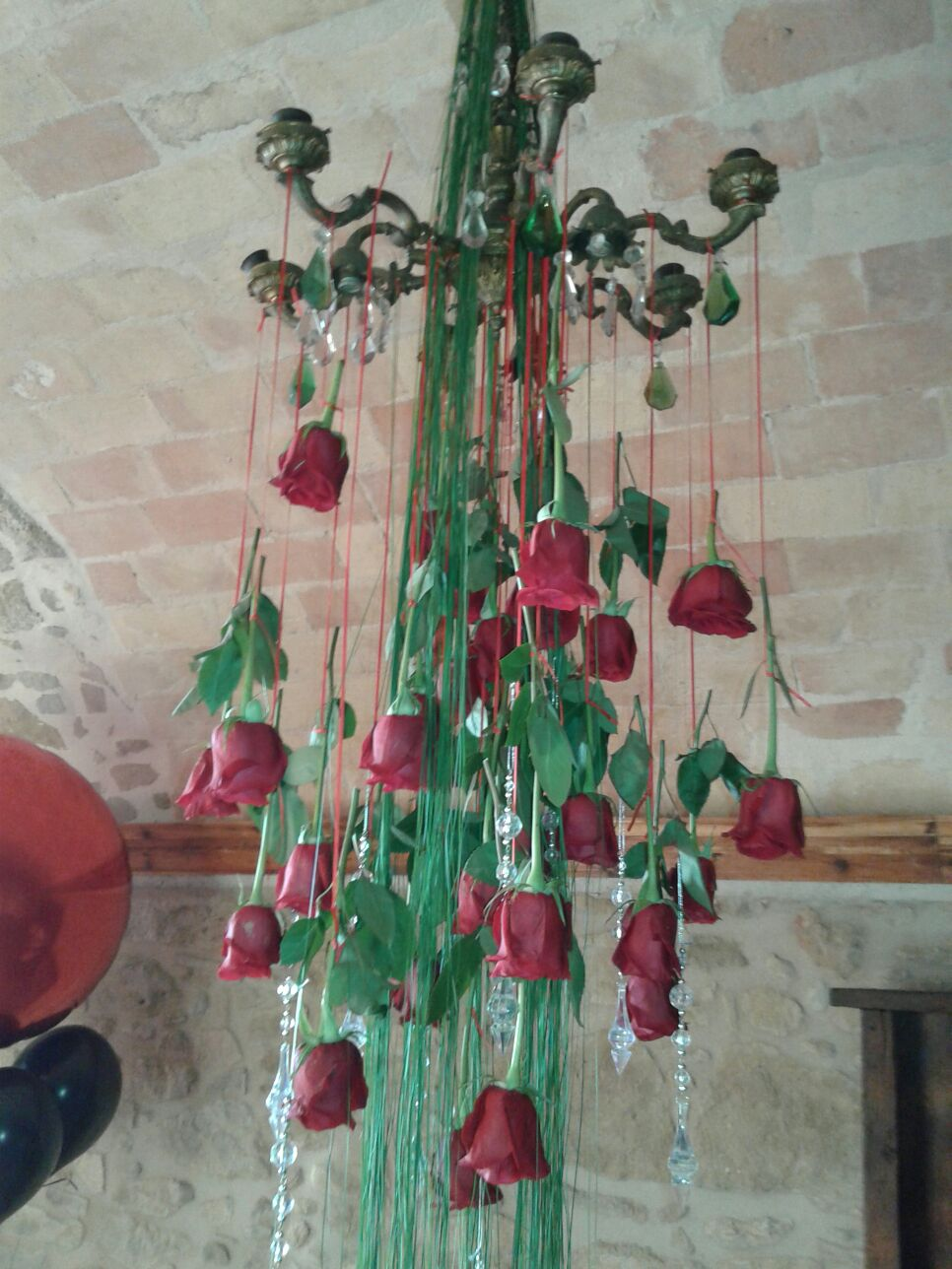 Decorations for parties in villa