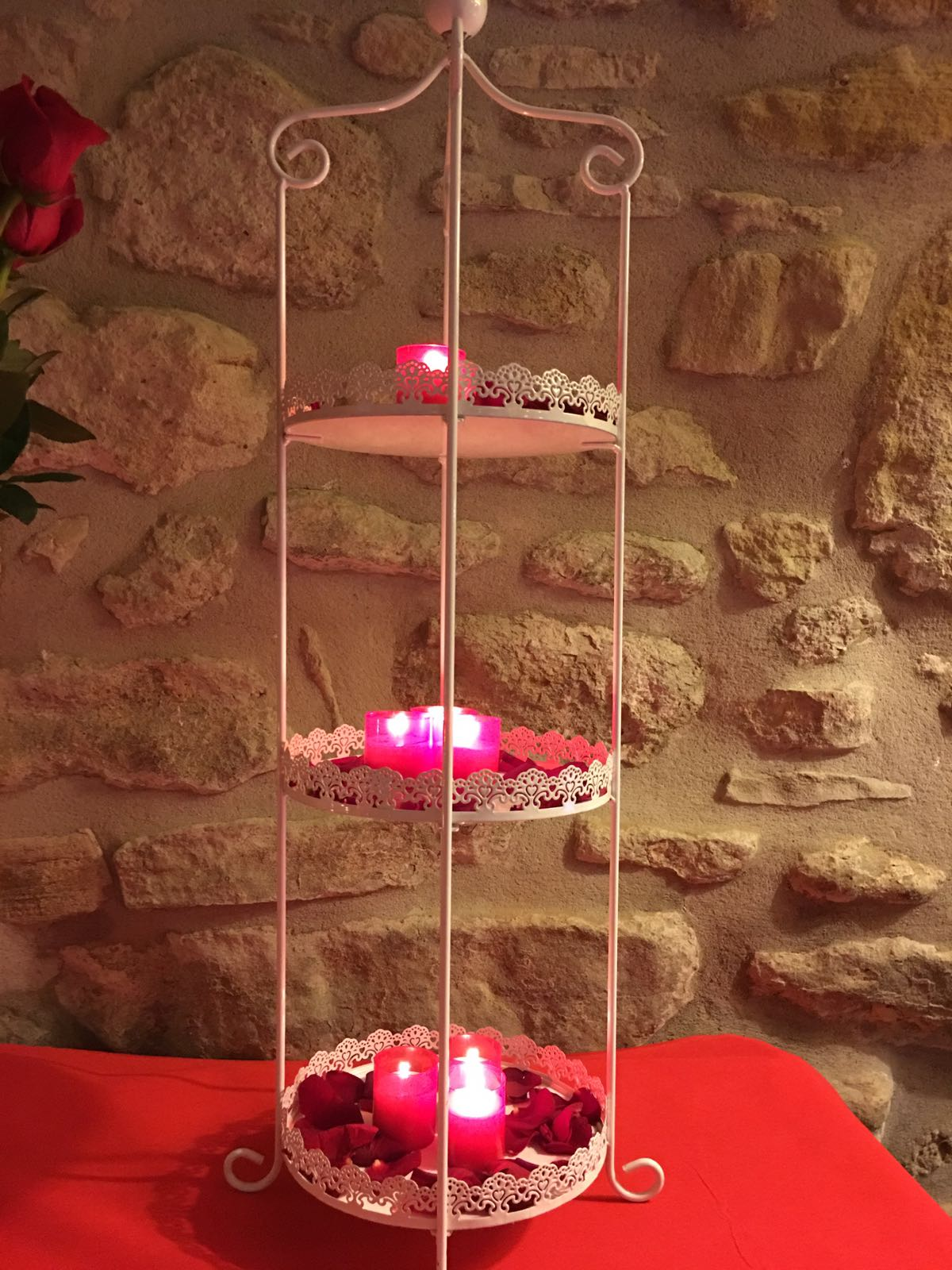 Decorations for parties red candles