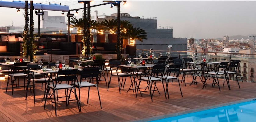 Rooftop bars Grand Hotel Central Barcelona