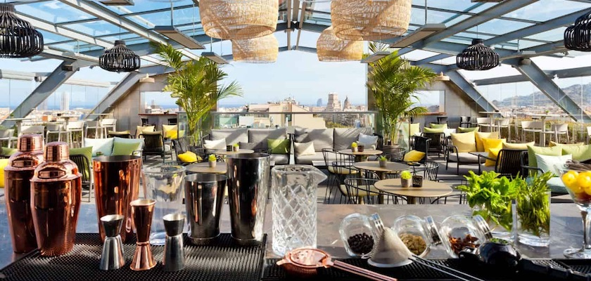 Rooftop bars Hotel Royal Barcelona