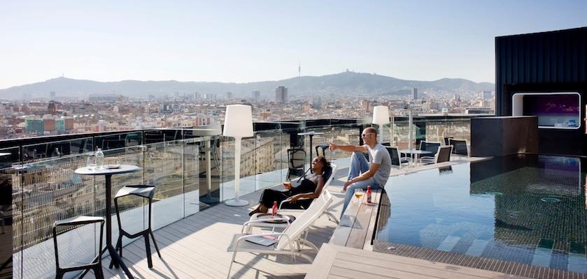Rooftop bars Barcelona Raval